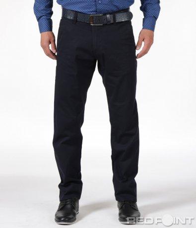 Тъмно син панталон с колан 6120