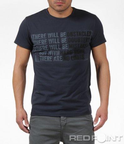 Сива тениска с надпис 6142