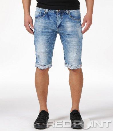 Къси дънкови панталонки с маншет 6150