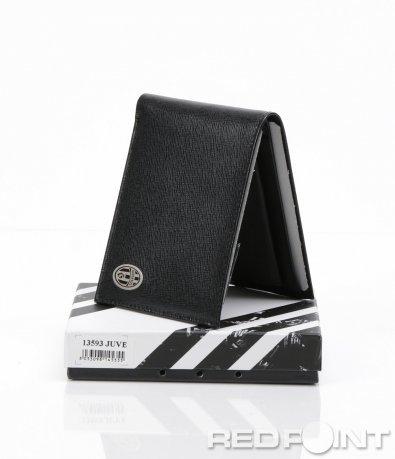 Черен портфейл от естествена кожа 6177