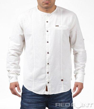 Бяла ежедневна спортна риза 6199