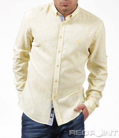 Ефектна риза от памучна материя 6200