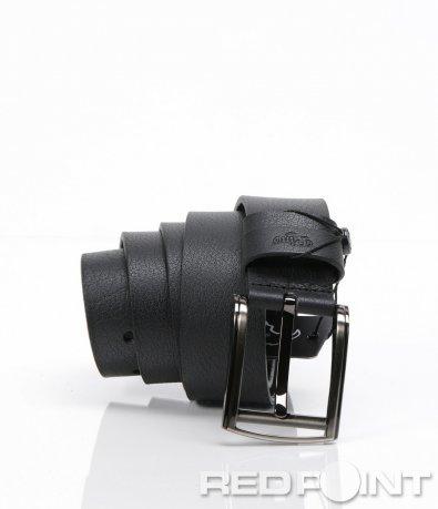 Класически черен кожен колан 6191