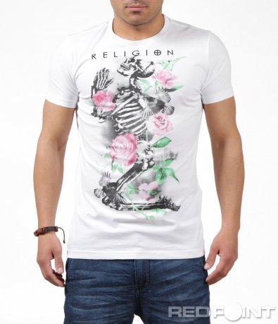 Бяла тениска със свеж мотив 6212
