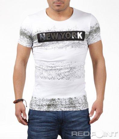 Тениска със стилен надпис New york 6242