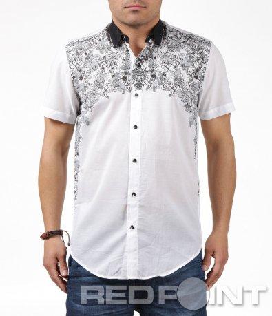 Ефектна риза с къс ръкав 6247