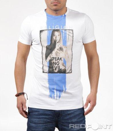 Интересна тениска с апликация 6214