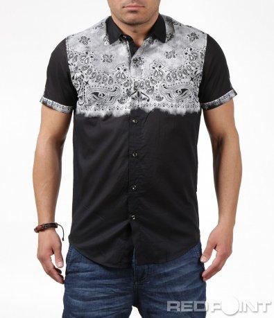 Пролетна риза с къс ръкав с орнаменти 6248