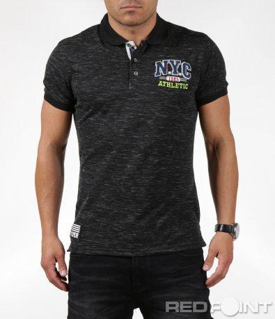 Интересна тениска с яка NYC 6289