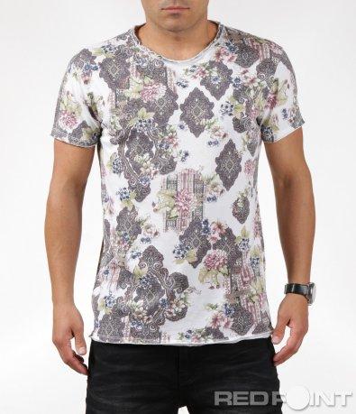 Ефектна тениска с контрастиращи елементи 6292