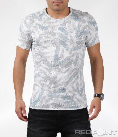 Тениска с декоративен принт 6293