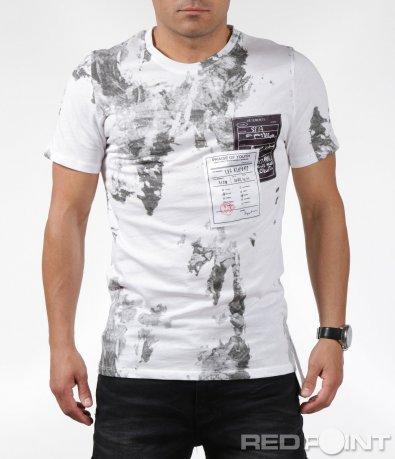 Стилна тениска с щампи 6294