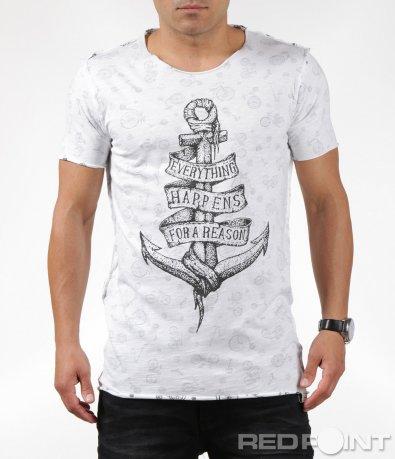 Бяла тениска с две лица 6296