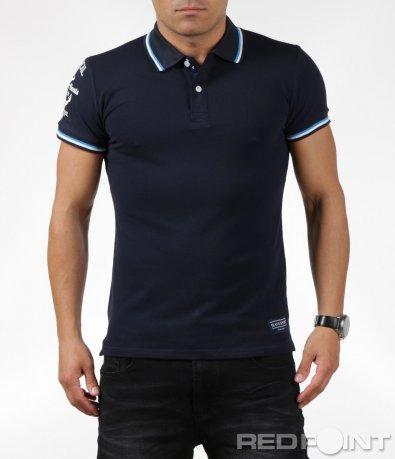 Ярка тениска с яка 6300