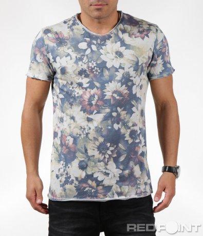 Лятна тениска със свеж флорален десен 6303