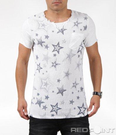 Бяла casual тениска 6305