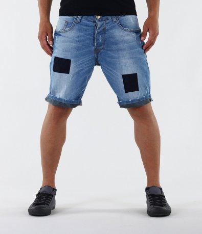 Къси мъжки дънки-12153
