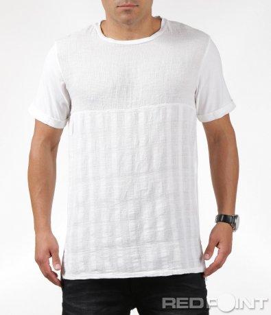 Лятна бяла изчистена тениска 6310