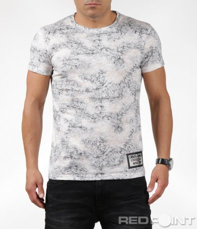 Тениска със семпла щампа 6312