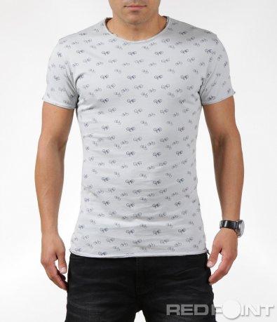 Сива тениска с весел мотив 6318
