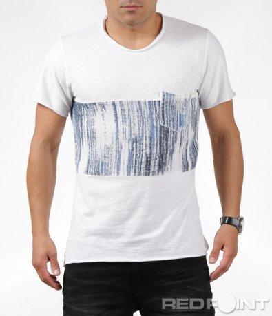 Класическа тениска с джоб 6319