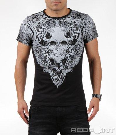 Класна тениска с голяма щампа 6321
