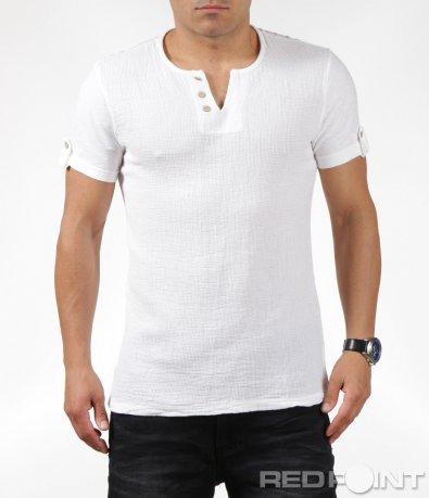 Спортно-елегантна тениска с копчета 6323