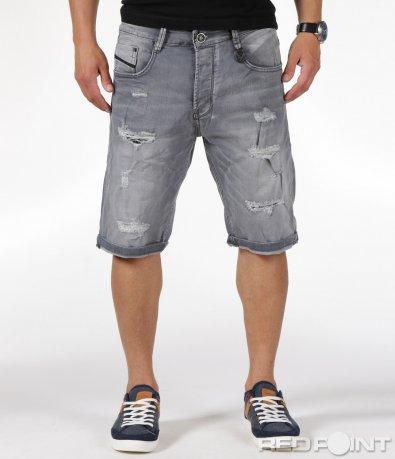 Къси дънкови панталони с кръпки 6329