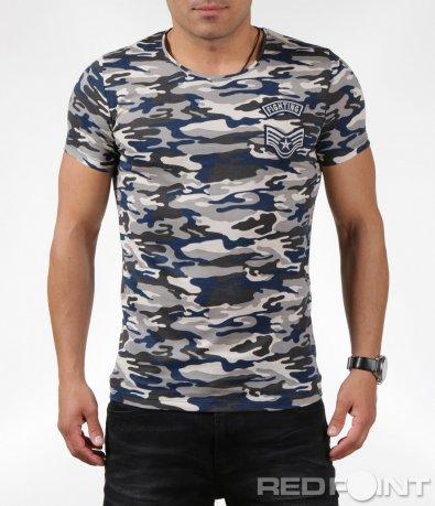 Спортно-елегантна камуфлажна тениска 6342