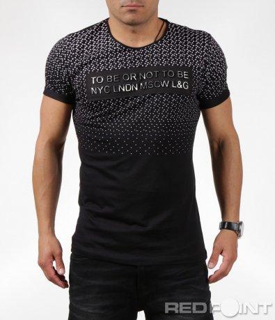 Свежа ляна тениска с интересен надпис 6343