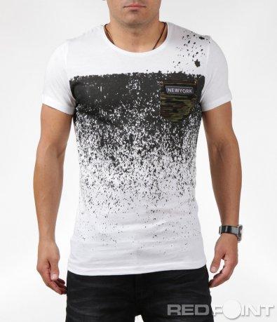 Стилна тениска с уникален десен 6345
