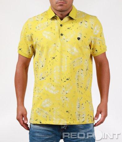 Стилна лятна тениска с яка 6402