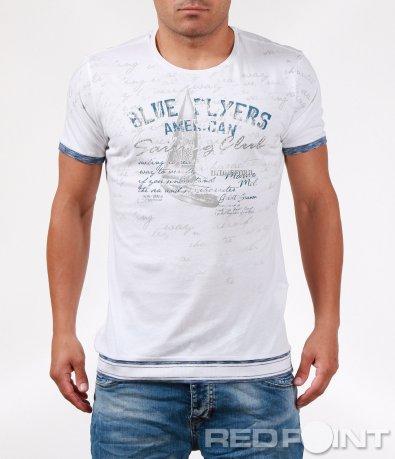 Ефектна тениска със семпла декорация 6408