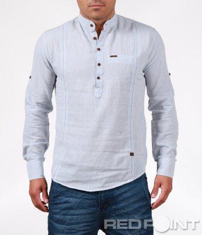 Спортна риза с половин закопчаване 6347