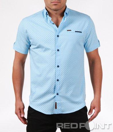 Свежа лятна риза с къс ръкав 6383