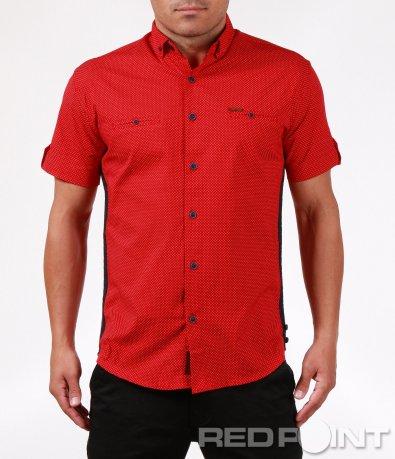 Ефектна ярко червена риза 6384