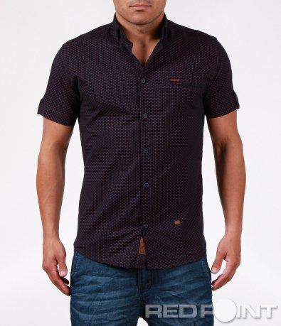 Тъмно синя риза с цветни орнаменти 6399