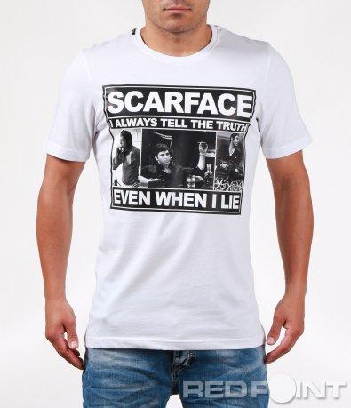 Емблематична тениска с щампа Scarface 6411