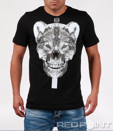 Атрактивна тениска с голяма щампа 6413