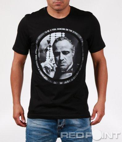 Тениска с кръгла щампа don corleone 6417