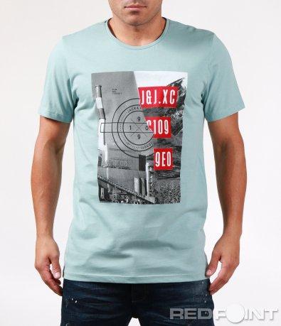 Тениска с голяма щампа 6452