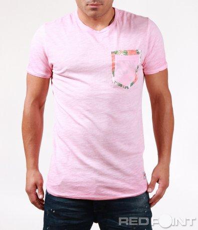 Свежа лятна тениска с джоб 6453