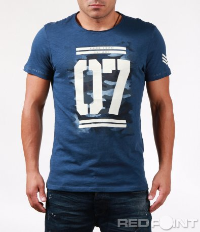 Тениска с щампа цифри 6465