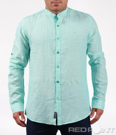 Ленена риза с дълъг ръкав 6467