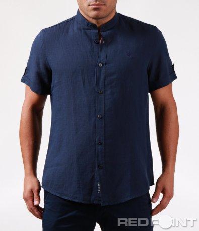Ленено памучна риза с къс ръкав 6470