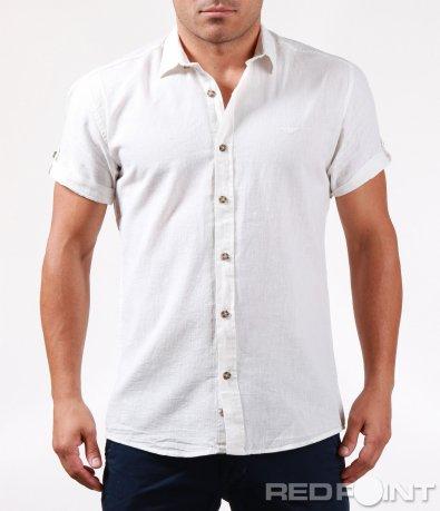 Вталена риза с къс ръкав 6473
