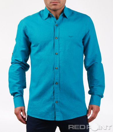 Изчистена риза в наситен цвят 6471