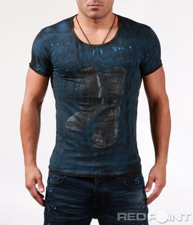 Вталена тениска с апликация 6486