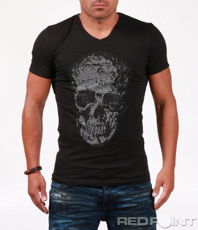 Модерна тениска с череп 6505