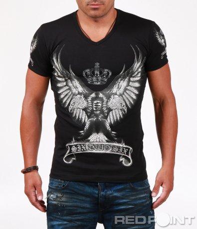 Тениска с ефектна щампа 6511